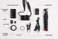 Sony Alpha 6000 Systemkamera für Reisen mit Zubehör. Neueste Anschaffung.