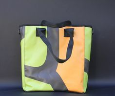 """""""LE MALEFATTE"""" recycled PVC handcrafts bags...every piece is different!!! On www.mirabiliashop.com"""