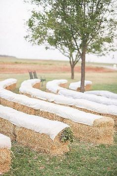 rustic outdoor hay bale wedding ceremony seating ideas im freien 30 Rustic Outdoor Wedding Decorations with Hay Bales - Oh Best Day Ever Outdoor Wedding Seating, Wedding Ceremony Seating, Outdoor Wedding Decorations, Rustic Outdoor, Outdoor Ceremony, Rustic Wedding, Wedding Ideas, Fall Wedding, Wedding Venues