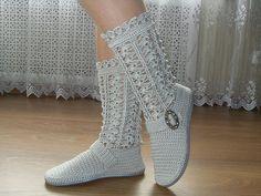 #Crochet #Boots