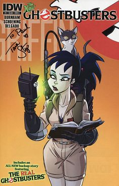 """From """"Extreme Ghostbusters"""", Kylie Griffin (voice and autograph by Tara Strong). Extreme Ghostbusters, Ghostbusters 1984, Saturday Morning Cartoons 80s, Comic Book Covers, Comic Books, Die Geisterjäger, Ghost Busters, Cultura Pop, Movies"""