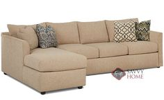 Aventura Chaise Sectional Queen Sleeper Sofa by Savvy at Savvy Home. $2,069.00