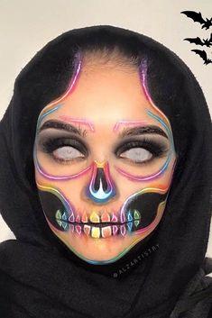 Haloween Makeup, Halloween Makeup Sugar Skull, Sugar Skull Makeup, Scary Makeup, Halloween Makeup Looks, Eye Makeup, Sugar Skulls, Makeup Art, Perfect Makeup
