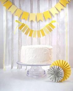 Gelbe Wimpel bringen sonnige Stimmung | Foto: BeeBuzzPaperie Etsy