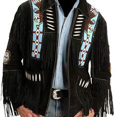 251c26c4693 Details about Men western fringe jackets