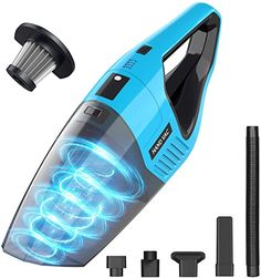 Handheld Vacuum Cordless, 7KPA Hand Vacuum Cleaner Rechargeable Portable with Stainless Steel Filter Wet Dry Lightweight Quick Charge Mini Hand Vac Car Vacuum for Pet Hair Home Car Cleaning (Blue) Small Vacuum, Hand Vacuum, Cable, Handheld Vacuum Cleaner, Mini Hands, Cordless Vacuum, Support Mural, Exotic Sports Cars, Cabo