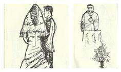 E se além da equipa de fotografia houvesse alguém a desenhar ao vivo que se vai passando no seu casamento? Uma sugestão @Pano Pra Mangas.