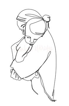 Outline Drawings, Art Drawings, Watercolor Quote, Abstract Line Art, Baby Tattoos, Minimalist Art, Doodle Art, Drawing Sketches, Art Projects