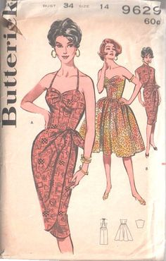 For many more vintage Sewing Patterns visit my eBay shop                                                           'The Vintage Pattern Shop'                                                                                   Item Description: ✦ Please note:  You are bidding on a 'Professional Digitally Reproduced' copy of this Sewing Pattern including full instructions (copied from it's original pattern, produced in Full Scale Pattern …