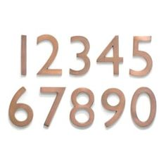 Architectural Mailboxes Antique Copper Number 5 at Lowe's. The solid cast brass 5 in. Floating house numbers offers an elegant hand finish in antique copper. The house numbers can be mounted either flush with the Aged Copper, Antique Copper, Copper Nickel, 10 House Number, Number 5, House Numbers Modern, Number Fonts, House Address Numbers, Address Plaque