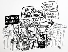 #jesuischarlie #charliehebdo Satire, Caricatures, Le Bataclan, Charlie Hebdo, Freedom Of Speech, Political Cartoons, Embedded Image Permalink, Comics, Twitter