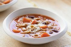 Serve up a bowl of steaming soup for lunch or dinner.  Our homemade Vegetable Minestrone soup is perfect with a side salad and some crusty bread.