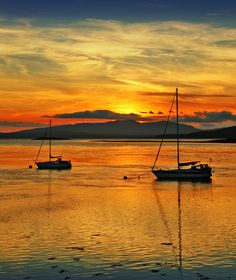 Loch Etive Sunset [Connell Scotland] by allan.macdonald, via Flickr