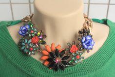 Zara colar flores