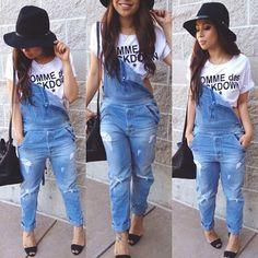 macacão jeans folgadinho :)