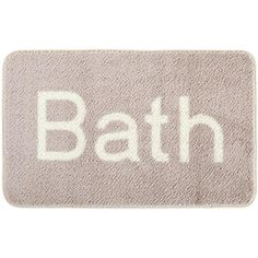 Bath Text Bathmat ($27) ❤ liked on Polyvore featuring home, bed & bath, bath, bath rugs, phrase, quotes, saying, text, blue bathroom rugs and blue bath mat