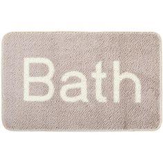 Bath Text Bathmat (€19) ❤ liked on Polyvore featuring home, bed & bath, bath, bath rugs, blue bathroom rugs and blue bath mat