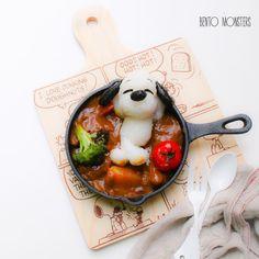 Snoopy beef stew. by Ming #bentomonsters (@bentomonsters)