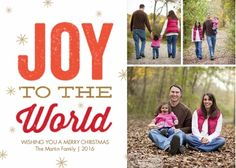 Snapfish Holiday Photo Cards: His World, Our Joy By Foto Crush