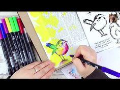 Tombow Dual Brush Pens - Bible Art Journaling Challenge Week 16