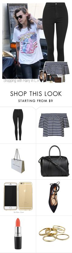 """Shopping with Harry in L.A"" by sophie-188 ❤ liked on Polyvore featuring Topshop, Marc Jacobs, Givenchy, Steve Madden, MAC Cosmetics, Kendra Scott and Gucci"