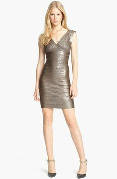 Herve Leger Foiled Bandage Dress available at #Nordstrom
