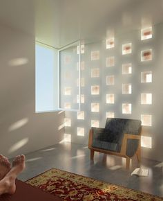 Adapting this sporadic glass block wall idea for shower