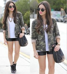 hair, glasses, shorts, jacket... LOVE ALL