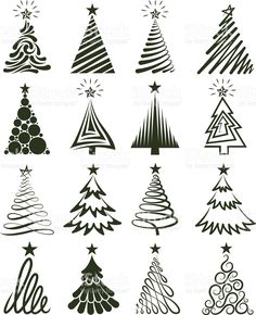 Christmas Tree Collection Royalty free vector graphics royalty-free stock vector art