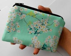 Zipper Pouch Little Padded Coin Purse ECO Friendly by JPATPURSES