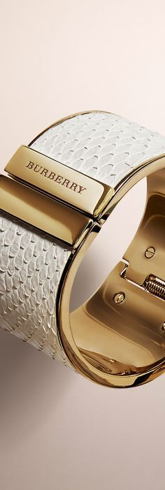 Distinctive cuffs from the Burberry Autumn/Winter 2014 jewellery collection