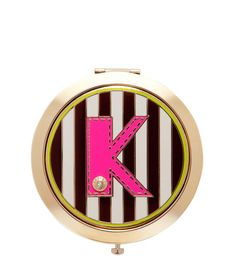 inital k compact - cosmetic compact - designer beauty accessories