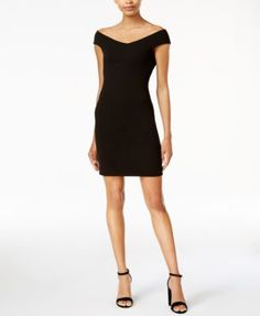 Bar III Off-The-Shoulder Bodycon Dress, Only at Macy's | macys.com
