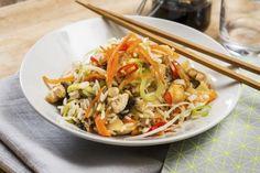 Stekt kylling og ris
