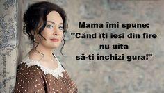 """Larisa Guzeeva – actriță şi prezentatoare TV din Rusia. A ajuns cunoscută pentru numeroasele sale roluri din filme, însă popularitatea i-a adus-o rolul de pețitor dinemisiunea """"Hai să ne căsătorim."""" Iată 17 citate """"pipărate"""" de la Larisa Guzeeva: 1.Chiar dacă ai fost prinsă în pat – spune că te încălzeai! Ai înghețat, ca un câine! … Wisdom Quotes, Life Quotes, Motivation, Powerful Words, Good Thoughts, Morning Quotes, Cool Words, Philosophy, Quotations"""