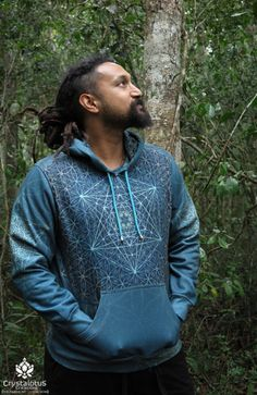 AQUA STAR Men's Pullover Hoodie / Sacred by CrystalotusCreations
