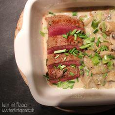 low carb lamm mit pilzsauce