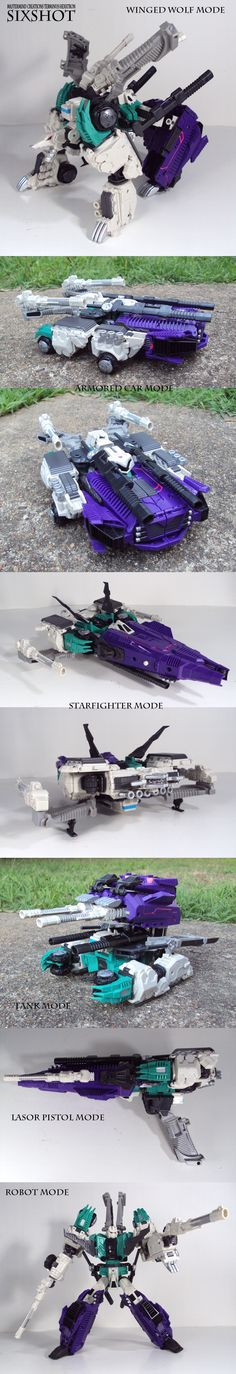 Terminus Hexatron Sixshot with Review by ~Unicron9 on deviantART