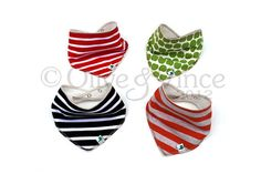 Stripy pirate bibs toddler Christmas gift red by OliveAndVince