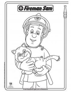Fireman Sam and Lion | Fireman Sam Coloring Pages | PBS KIDS Sprout