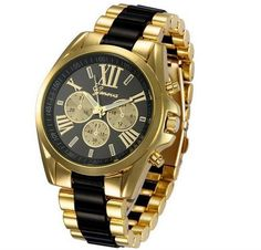 Business Quartz Wristwatch Gold Stainless Steel Strap Big Roman Numerals Round Dial Watches for Men is hot-sale, stainless steel watch, sport watches for men, and more other cheap mens watches are provided on NewChic. Shenzhen, Maserati, Women's Dress Watches, Wrist Watches, Women's Watches, Black Watches, Fashion Watches, Cheap Watches For Men, Oufits Casual