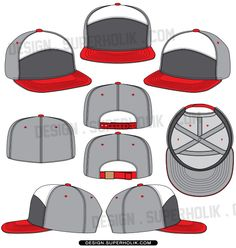 6 panel cap vector template http://design.superholik.com/blog/6-panel-hat/