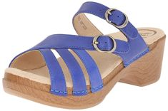 Dansko Women's Shelby Cobalt Full Grain Wedge Sandal >>> You can get additional details, click the image : Wedge sandals
