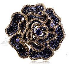 Ultra-luxury three-dimensional rose brooch Swarovski Elements