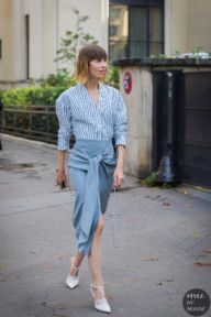 STYLE DU MONDE / Paris SS 2018 Street Style: Anya Ziourova  #Fashion, #FashionBlog, #FashionBlogger, #Ootd, #OutfitOfTheDay, #StreetStyle, #Style