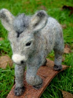 Needlefelt donkey. Felt animal. Needle felted donkey. by Artywool