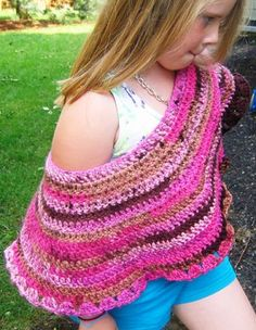8 Quick & Easy Steps to Crochet a Child's Poncho on Instructables.Com
