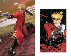 "Vash The Stampede (Trigun)  ""Love the accuracy of the bullet holes"""
