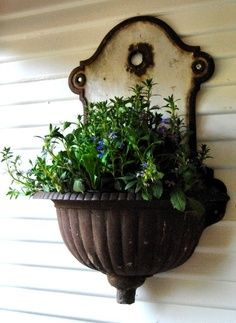 Wall Sink Garden Container 5 Vintage Series: Decorating with Wall Sinks