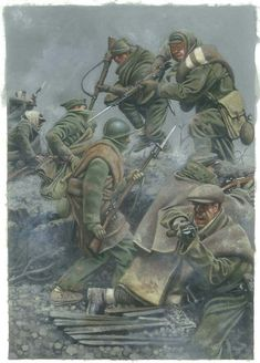 1938 Teruel - Zvonimir Grbasic fought under bitter cold of C Spanish civil war Zvonimir Grbasic Anime Military, Military Art, Military History, Soldier Drawing, D Day Normandy, Propaganda Art, Military Diorama, Historical Art, World War One